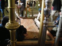 Where Jesus was prepared for burial