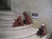 Kitty statues in Jerusalem