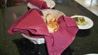 Anastasio's: Mini stromboli in the bread basket
