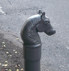 Horse-headed street posts