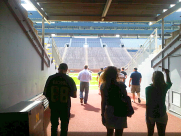 Walking out to the field