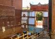 Back side of neighboring facade