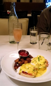 Eggs benedict with smoked trout, Local 121