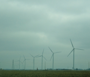 Wind turbines, Indiana