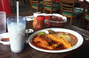 Costillitas and horchata, Adriana's, Bayside, CA