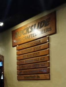Brew list at Rockslide Brewery, Grand Junction, CO