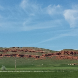 Outcrop near South Dakota Visitor Center
