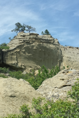 Cliff, Pictograph Cave State Park