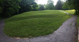 View from head, Serpent Mound, OH