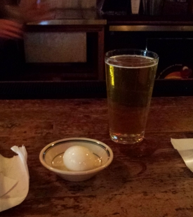 Spicy pickled egg and honey ale, The Old Fashioned