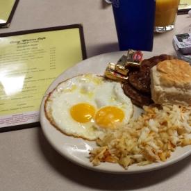 Breakfast at Crazy Woman Cafe, Ten Sleep, WY