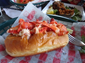 Lobster roll off Newport piers