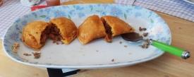 Five sausage + lime, Raul's Empanadas