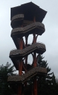 Observation tower (winter), Cox Arboretum